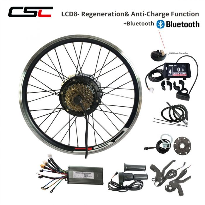 36v Electric Bike Conversion Kit 250w 350w 500w Hub Motor Set