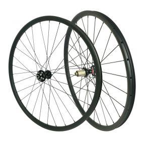 29er Chinese Tubeless Carbon MTB Wheelset 30mm width Asymmetric 15x100 TA or QR or 15X110 Boost Option 1450g