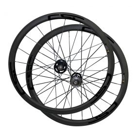 U Shape 38mm Tubular Clincher Tubeless Carbon Track bike wheels Fixed Gear Bicycle wheelset 23mm/25mm Rim Width