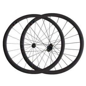 700C 23mm/25mm Width 38mm Tubular Clincher Carbon Road Bike Wheels DT240 hub