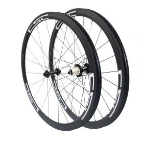 CSC 700C 38mm Clincher Tubular Carbon Bicycle Road Wheelset R13 hub 23mm,25mm Width U Shape