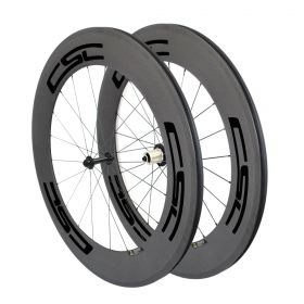 U shape 23mm, 25mm Width 88mm Clincher Tubular Carbon Bicycle Road Wheels Powerway R13 hub