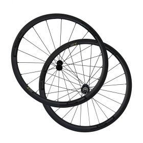 SAT 23mm,25mm width U Shape 38mm Clincher Carbon Road Wheels R13 Hub Sapim CX-Ray Spokes