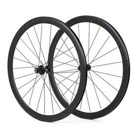 1pair 23c 40mm clincher V brake road bicycle wheels + 2pcs bicycle rim