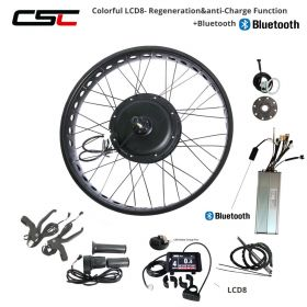 48V Electric Bike Kit Brushless Hub Motor Rear Snow Wheel 20 24 26 inch 750W 1000W 1500W 4.0 Tyre Fat Bicycle Conversion Kit