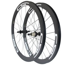 Straight Pull R36 Hub 50mm Tubular Clincher Tubeless Carbon Bicycle Wheelset 23mm/25mm Rim Width