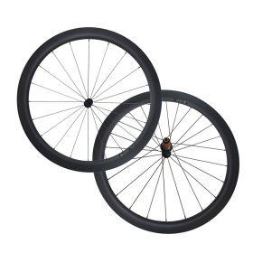 Anti Bite 6 Pawls Ultra Light 50mm Tubular Clincher Carbon Bike Wheelset
