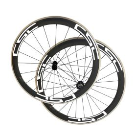 Free Shipping 23mm Width 50mm Clincher Carbon Bike Road Wheels Alloy Brake track