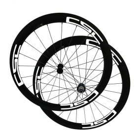 No outer hole SAT Ultra Light 50mm Clincher Carbon Bike Wheels 23mm 25mm Width Straight Pull R36 Ceramic Bearings