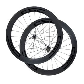 Ultra Light D411SB D412SB Disc Brake 60mm Clincher Tubular Tubeless Carbon Cyclocross Bicycle wheelset Sapim CX-Ray Spokes