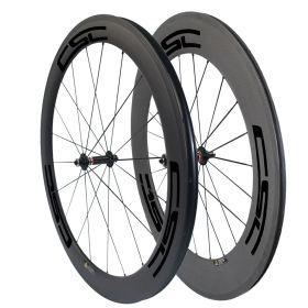 CSC 60mm Front 88mm Rear Carbon Road Bike Wheels Novatec A291SB F482SB Hub 23mm/25mm Width U Shape
