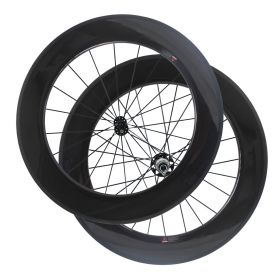 700C Chinese 88mm Carbon Bicycle Road Wheels Powerway R51 2:1 Hub Tubular Clincher
