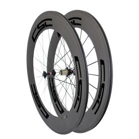 700C 88mm Clincher Tubular Carbon Road Bike Wheels Basalt Brake Surface