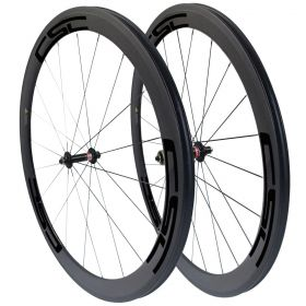 CSC 50mm Clincher Tubular Carbon Bike Wheels Novatec A291SB F482SB Hub
