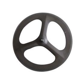 Tri spokes Three spokes front bicycle wheel