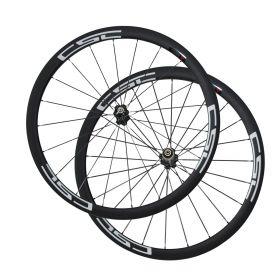 SAT No outer Holes Carbon Fiber Wheels  38mm Clincher Tubeless Ready Carbon Road Wheelset Novatec Hub