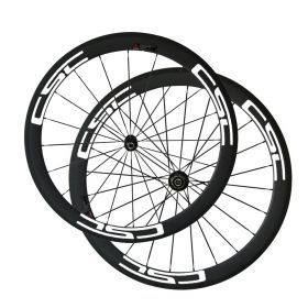 SAT Toray T800 50mm Cycling Fiber Carbon Wheels  Clincher Tubeless Ready  With Novatec Light Hub