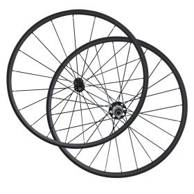 700c x 23mm width 24mm Clincher Carbon Bike Road Wheels Straight Pull R51 Hub 2:1 Pattern