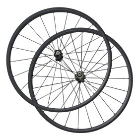 700C 24mm Tubular Carbon Fiber road bike wheels Chinese carbon wheelset