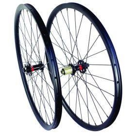 27.5er Carbon MTB Wheels 650B Mountain Bicycle wheelset 27mm width Hookless 15x100 TA or QR or 15X110 Boost Option 1360g