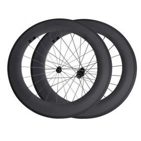 88mm Tubular Clincher Carbon fiber Road Bicycle Wheelset DT240 hub Sapim cx ray spokes