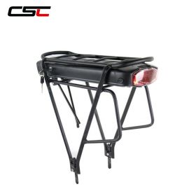 36V 48V Electric Bicycle Rear Rack Battery 10ah 13h 17.5Ah eBike Lithium-ion Battery Double Layer Luggage Rack