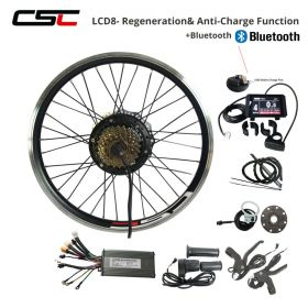 36V Electric Bike Conversion Kit 250W 350W 500W Hub Motor Set 20 24 26 27.5 28 29 inch 700C Bicycle Motor Hub Wheel Bluetooth