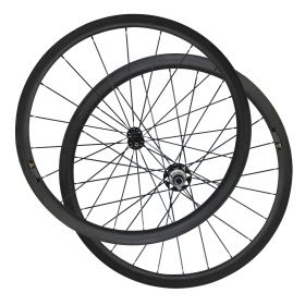 CSC Chinese Straight Pull R51 Hub 38mm Tubular Clincher Carbon Bicycle Road Wheels 2:1 Pattern