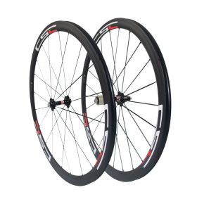 700C 38mm Clincher Tubular Carbon road bike wheels 23mm/25mm width U Shape