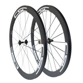 U Shape 50m Clincher Tubular Carbon road Bicycle wheels 23mm/25mm width U Shape