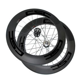 88mm Tubular Clincher Tubeless Carbon Track bike wheels Flip Flop Bicycle wheelset 23mm 25mm rim Width U Shape