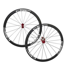 SAT Toray T800 700C 23mm 25mm Width U Shape 38mm Clincher Tubeless Ready Carbon Road Wheelset( No outer Hole)