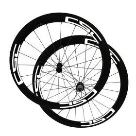 No outer hole SAT Ultra Light 50mm Clincher Carbon Bike Wheels 23mm 25mm Width