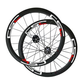 U Shape 50mm Tubular Clincher Tubeless Carbon Track bike wheels Single Speed Bicycle wheelset