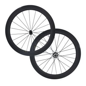 CSC 60mm Tubular Clincher Carbon Bike Road Wheels Powerway R51 2:1 Hub