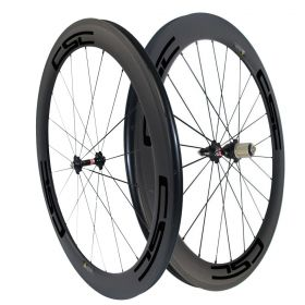 T800 Carbon Fiber 60mm Clincher Tubular Carbon Road Bike Wheelset 23mm/25mm width U Shape