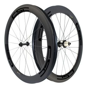 700C 60mm Clincher Tubular Carbon Bicycle Road Wheels Powerway R13 hub 23mm,25mm Width