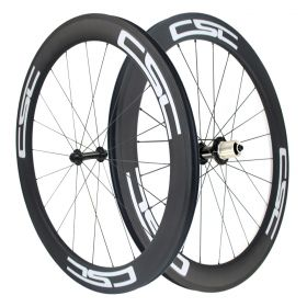 Ceramic Bearing 60mm Tubular Clincher Chinese Carbon Bike Wheels Powerway R13 hub Sapim Spokes