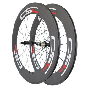 Powerway R36 Ceramic Bearing Hub Sapim CX-Ray Spokes 88mm Tubular Clincher Tubeless Carbon road Wheelset 23mm,25mm Width