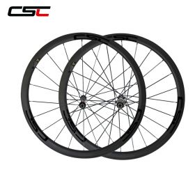 SAT 38mm Clincher Road Bike Racing Carbon Wheels Novatec AS511SB Straight Pull Hub Sapim CX-Ray Spokes
