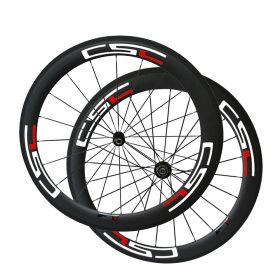 SAT Toray T800 60mm Chinese Road Bicycle Hot Carbon Wheels Clincher Tubeless Ready  With Novatec Light Hub