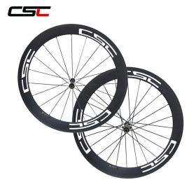 No outer hole SAT  60mm Road Bicycle Hot 700C Carbon Wheels with Straight Pull AS511SB Hub